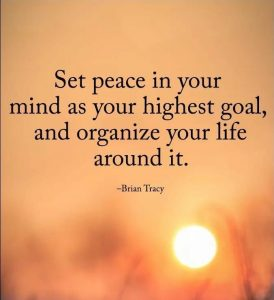 Peace In Your Mind Quote-Brian Tracy